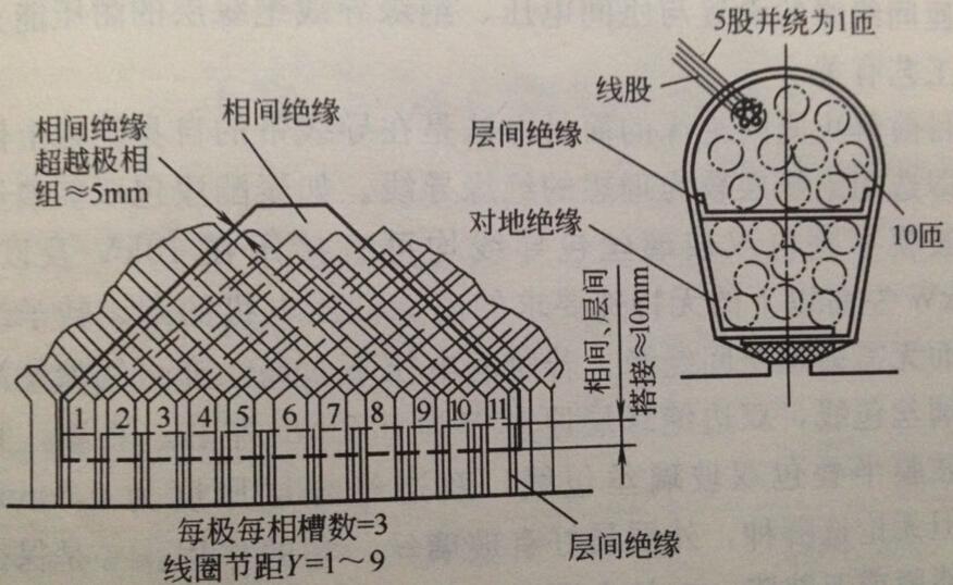 二十四槽二极电机接线图